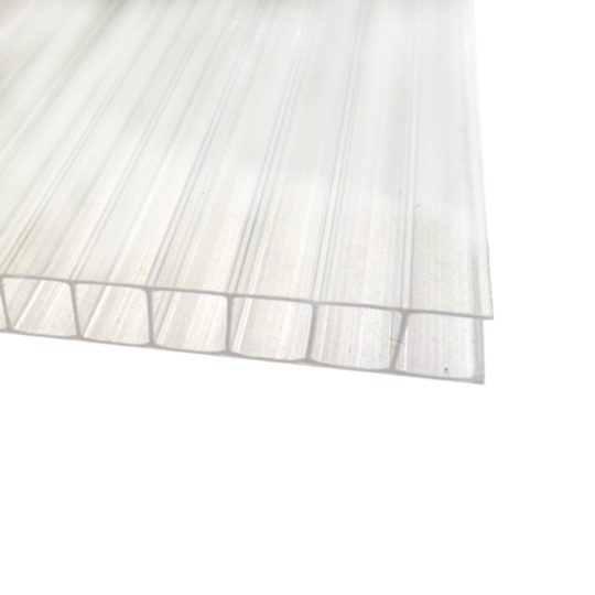 Поликарбонат сотовый (10 мм) «Прозрачный Кристалл»