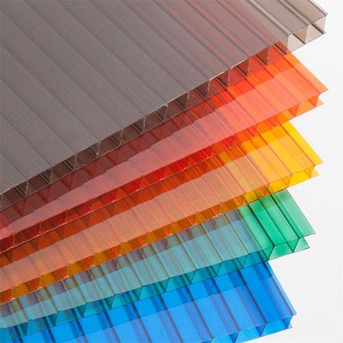 Поликарбонат сотовый (8 мм) «Цветной Кристалл»