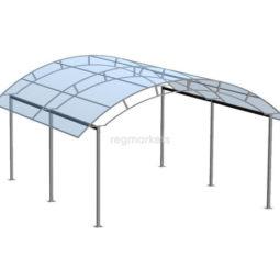 Навес для автомобиля (труба 25*25 (шаг 2м)) ширина 3 м